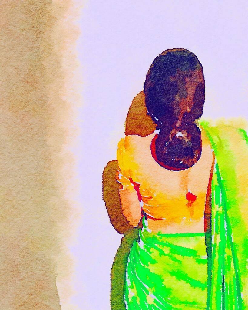 Indian Saree  #art #illustration #drawing #draw  #picture #artist #sketch #sketchbook #paper #pen #pencil #artsy #instaart #beautiful #instagood #gallery #masterpiece #creative #photooftheday #instaartist #graphic #graphics #artoftheday #typography #wate… https://instagr.am/p/CDlfMskFA8_/pic.twitter.com/rfDTL7TECT