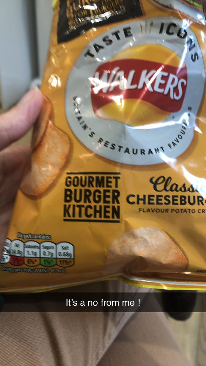 Nope. It's a no from me.  #walkers #crisps #classiccheeseburger #walkerscrispspic.twitter.com/W2KxYRUpVC