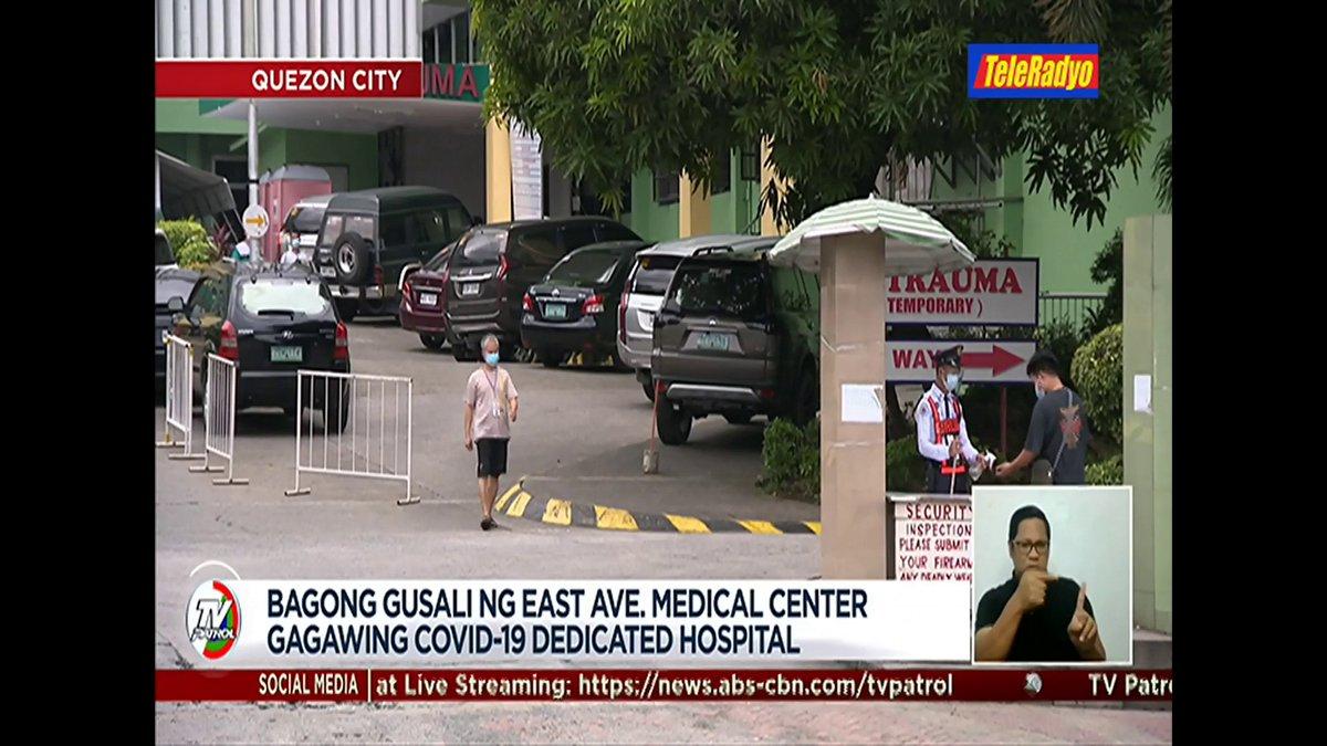 #TVPatrolLive Gagawing #COVID19-dedicated hospital ang bagong gusali sa East Avenue Medical Center sa Quezon City. | ulat ni @biancadava