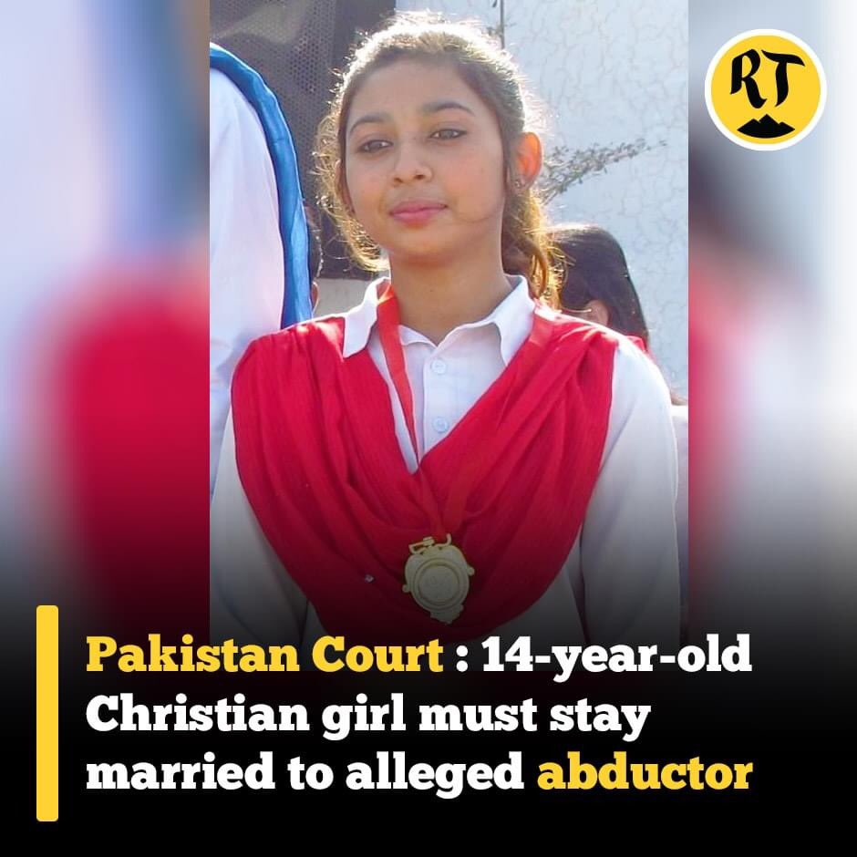 14 years old Christian Girl Maira was forcefully kidnapped, Raped, converted to #Islam. Case filed for Justice for little girl but Lahore High Court denied #justice & gave a verdict that she had converted to Islam, now she must stay with her rapist & abductor Mohamad Nakash. https://t.co/1zqSDTLEqS