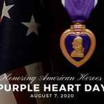 Image for the Tweet beginning: #PurpleHeartDay commemorates the creation of