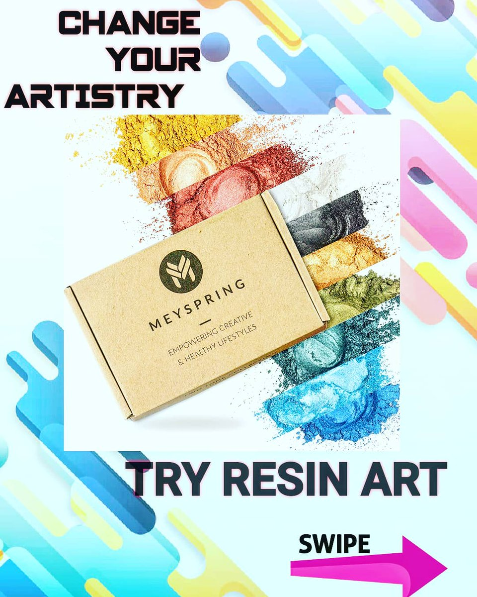 Think of all the impossible things you can achieve with these magical DUST. Change your ARTISTRY, Bring your VISIONS TO LIFE😊😊 PAINT ,VARNISH ,MOLD, Canvas ART . MEYSPRING Two Tone Collection - Epoxy Resin Color Pigmen-Mica Powder Set 100g and 50g PRICE: N17,161 50g: N13,829