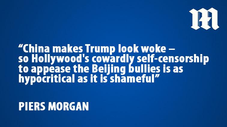 .@piersmorgan: Let's be very clear: China makes Trump look woke trib.al/OK4Yf2Z