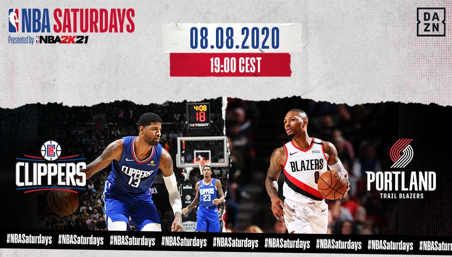 🚨 #NBASaturdays  2️⃣ #ClipperNation vs #RipCity ⏰ 19:00H   1️⃣ #LakeShow vs #IndianaStyle  ⏰ 00:00H (SA./SO.)  📺 LIVE bei @DAZN_DE #Time2Rise https://t.co/QIfw2RYRSu