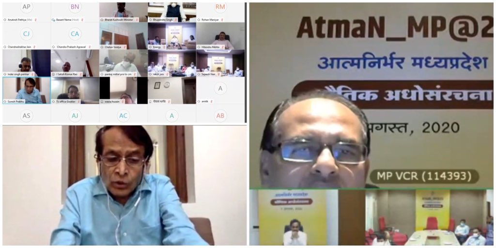Was happy to participate as invited Expert in #AtmanirbharMP strategy brainstorming programme with CM @ChouhanShivraj Ji, CS, all Secretaries, Sr. Officers and @NITIAayog officers. https://t.co/YG82b49Bn4