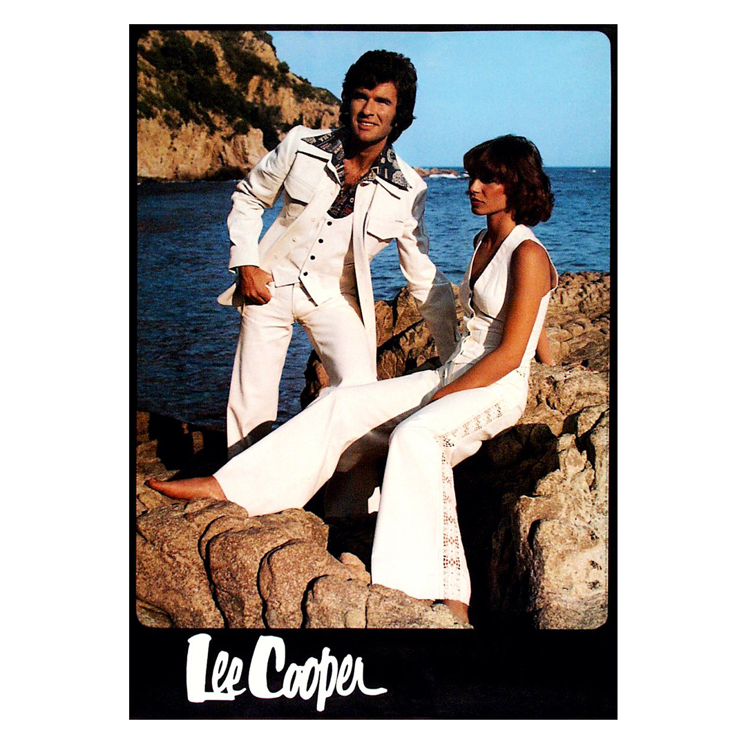 Today we are feeling the 1970s summer white-flare vibe from the Lee Cooper archives.  #FlashbackFriday #FBF #archivepic.twitter.com/ATlunj2chT