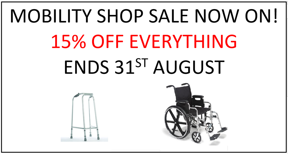 Pop by and check our Mobility Shop Sale here on Church Street.  Lots of bargains to be had with 15% off shop wide! Call 01933 315555!  #sale #discount #loverushden #mobilityaids #wheelchairs #walkers #zimmerframes #shopping #shoplocal #supportingtheelderlypic.twitter.com/hOfz2KhqEi
