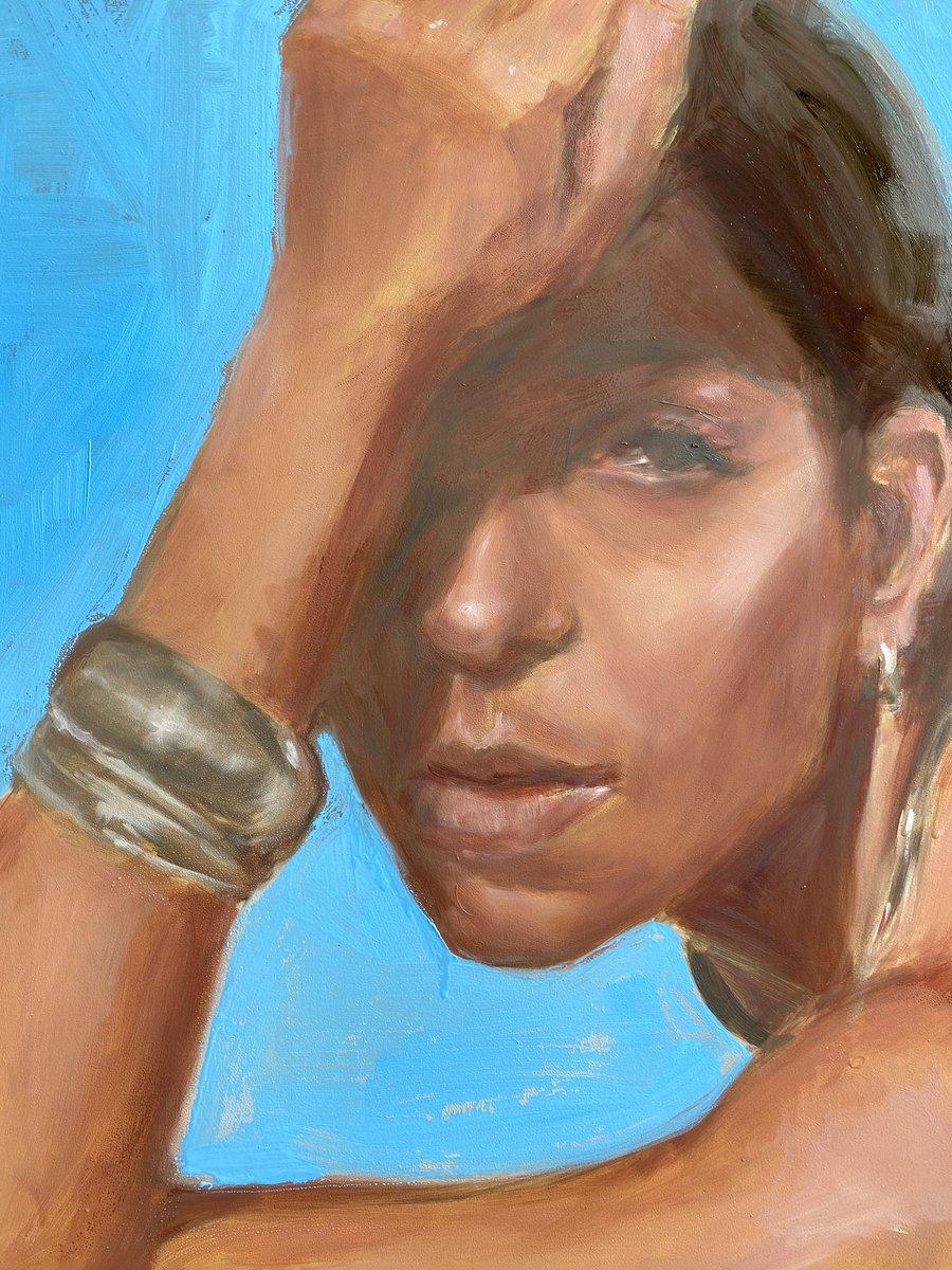 Alternate backgrounds for a moody #portraitpainting #figurativeart #contemporaryfigurativeartpic.twitter.com/t23EuUrmbq