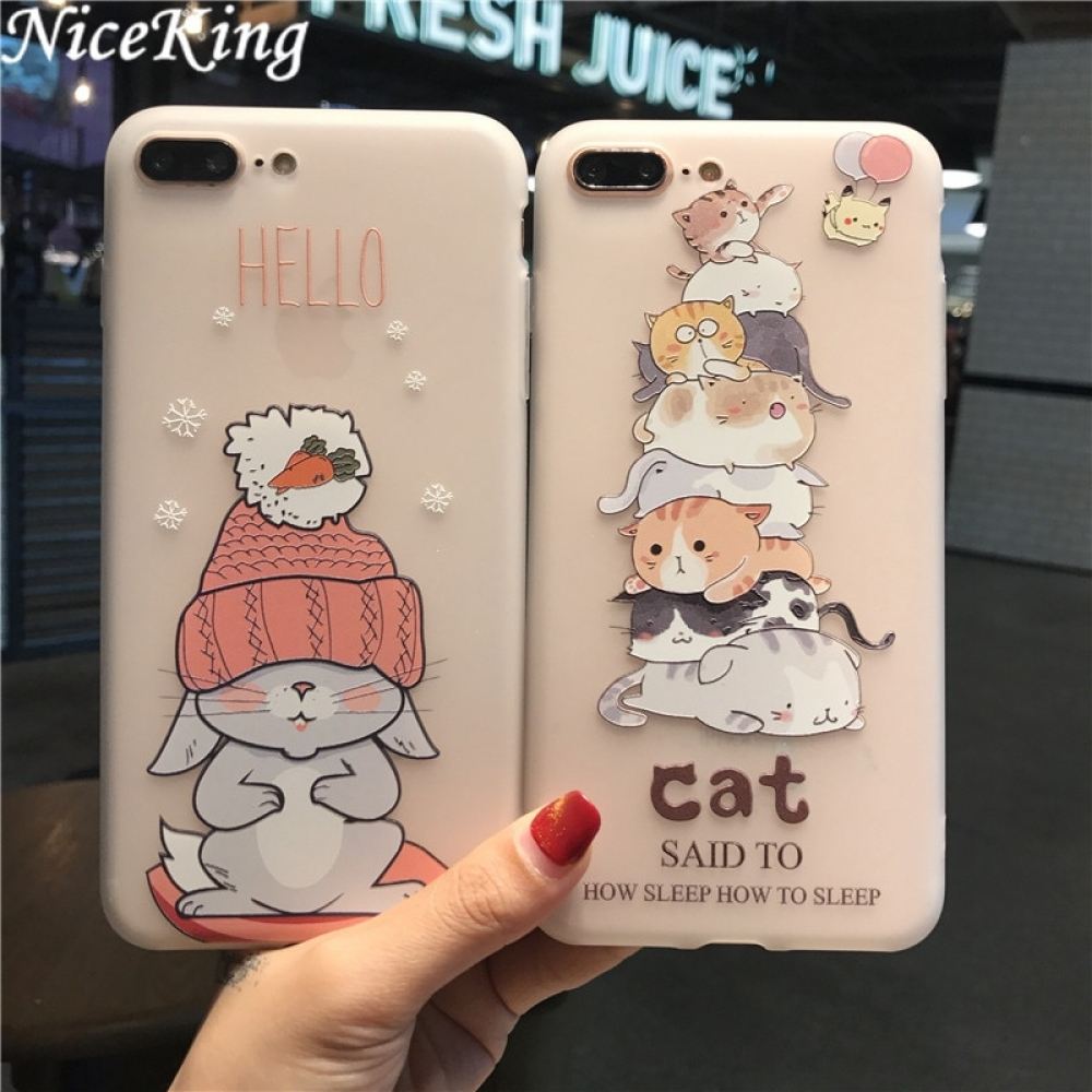 #case #phone #onlineshop Niceking Cute Cartoon Matte TPU Soft Back Cover Phone Cases For iPhone 6 6S 7 8 Pluspic.twitter.com/XC0nVu3PB3