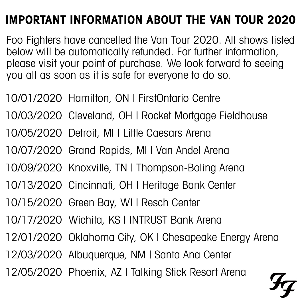 Important information about the Van Tour 2020. https://t.co/E1E8AS0lx8