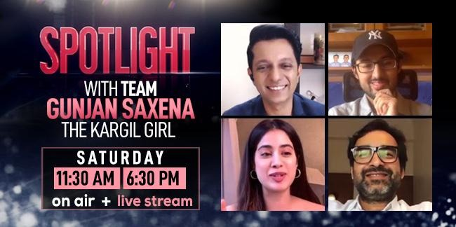Ndtv On Twitter Watch The Team Of Gunjan Saxena The Kargil Girl In Conversation With Ndtv S Rohitkhilnani On Spotlight Saturday At 11 30 Am And 6 30 Pm Https T Co Hzv4iz9cpg