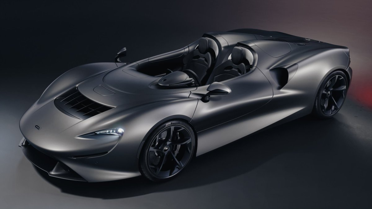 The McLaren Elva is designed to be as bespoke as you want it to be. We've created themes to inspire your own Elva creations. For the 'Slipstream' theme, we combine a beautiful Satin Kilo Grey with a Caviar Black Ultrafabrics™ interior for a ultra sleek look. https://t.co/JwsFHnP8LQ