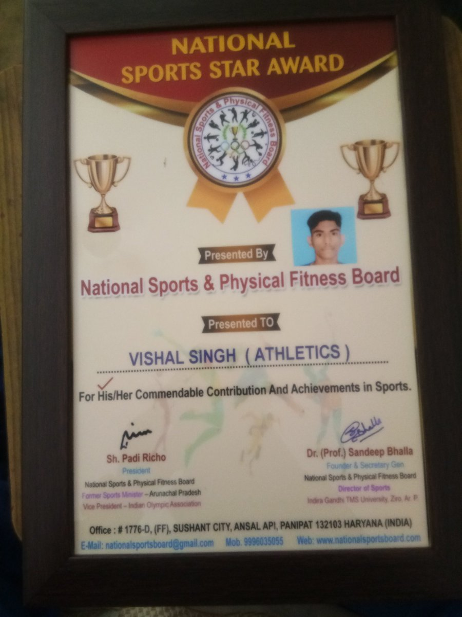 finally  got National  Sport  Star  Award from  National Sport and physical Fitness Board pic.twitter.com/pmqMOQBOrb