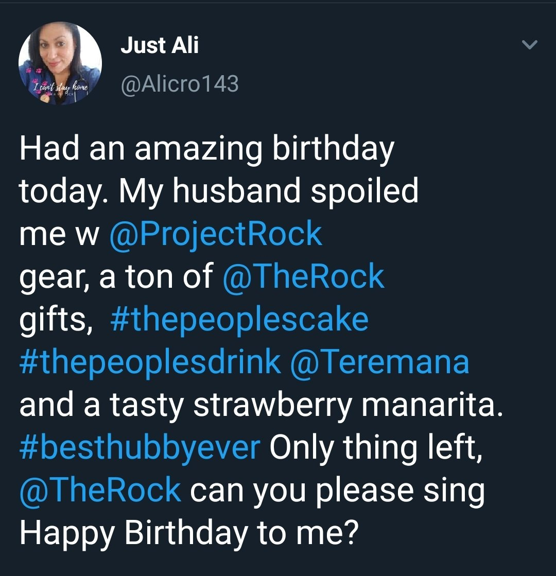 @lindseyvonn Can you PLEASE get this message to @TheRock???????? Can you ask him to wish and sing me Happy Birthday??? It would make my day. Ty. @ProjectRock @SevenBucksProd @DanyGarciaCo @TheRock @Teremanapic.twitter.com/t47WIEpzdh