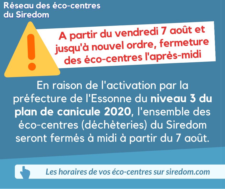 🌡️☀️Les déchèteries du @siredom seront ouvertes exclusivement de 9h à 12h, jusqu'à nouvel ordre.+ info : siredom.com https://t.co/deWJbgQRCv