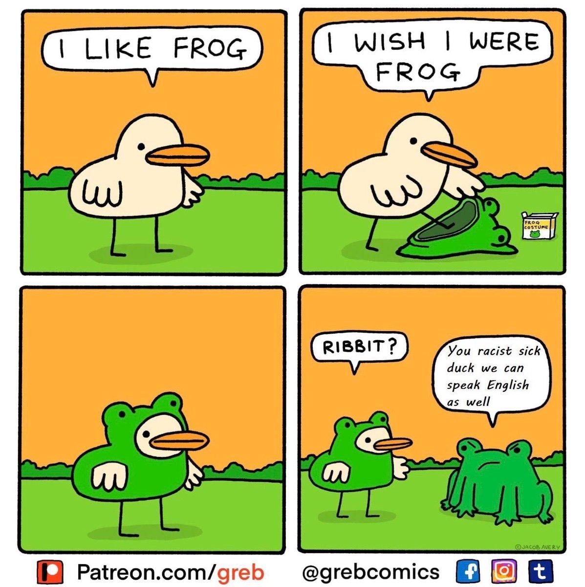 Follow @commedy_necromancy @grebcomics . . . . . #dankmemes #dankmemesdaily #edgymemes  #memes #funny #memesquad #memesdaily #instagood #bruh #epicmemes #babyyoda #spicy #cursedimage #bruh #deepfriedmemes #spicymemes #chadmemes #comic #frog #duck #duckmemes #grebcomics #ribbitpic.twitter.com/kbxQja2XEj