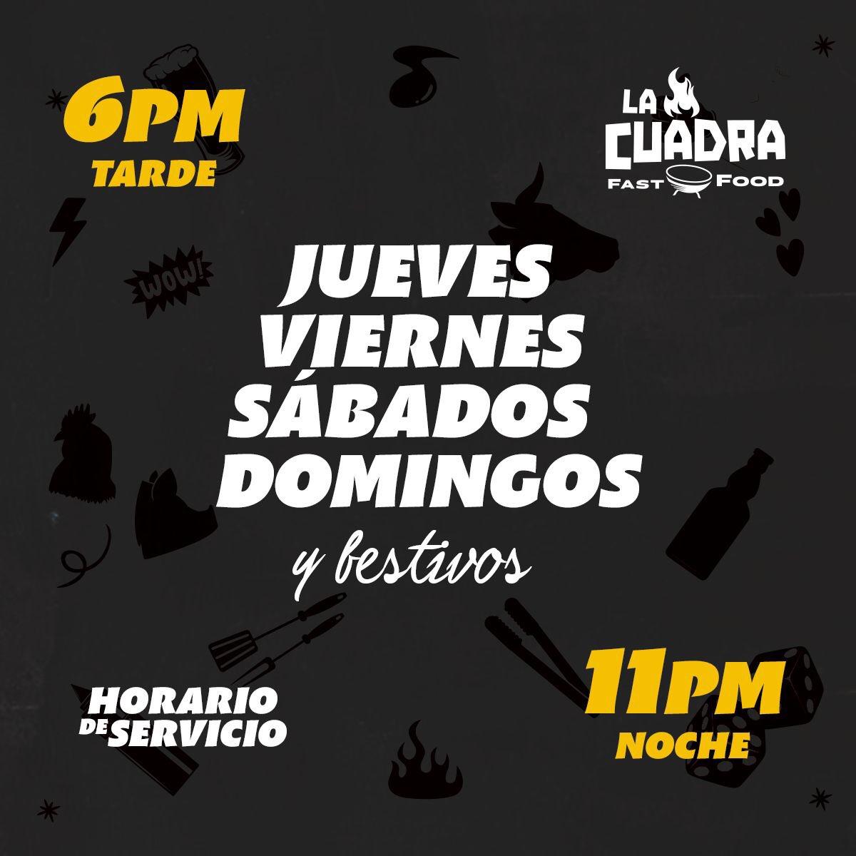 A falta de reactivar algunos sectores, #LaCuadra si llega Re-activada. HOY GRAN APERTURA #CuadraTuFinchoDeChuzo https://t.co/s5QwbFkZx1