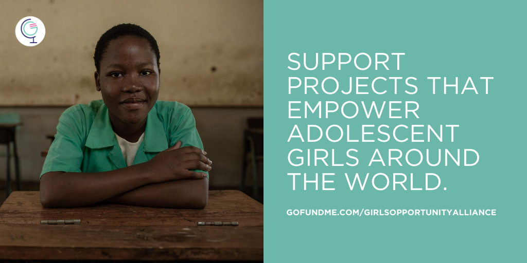 Join me and the @GirlsAlliance today in supporting the grassroots organizations that are working tirelessly to ensure that girls remain empowered and safe during the pandemic: gofundme.com/girlsopportuni…