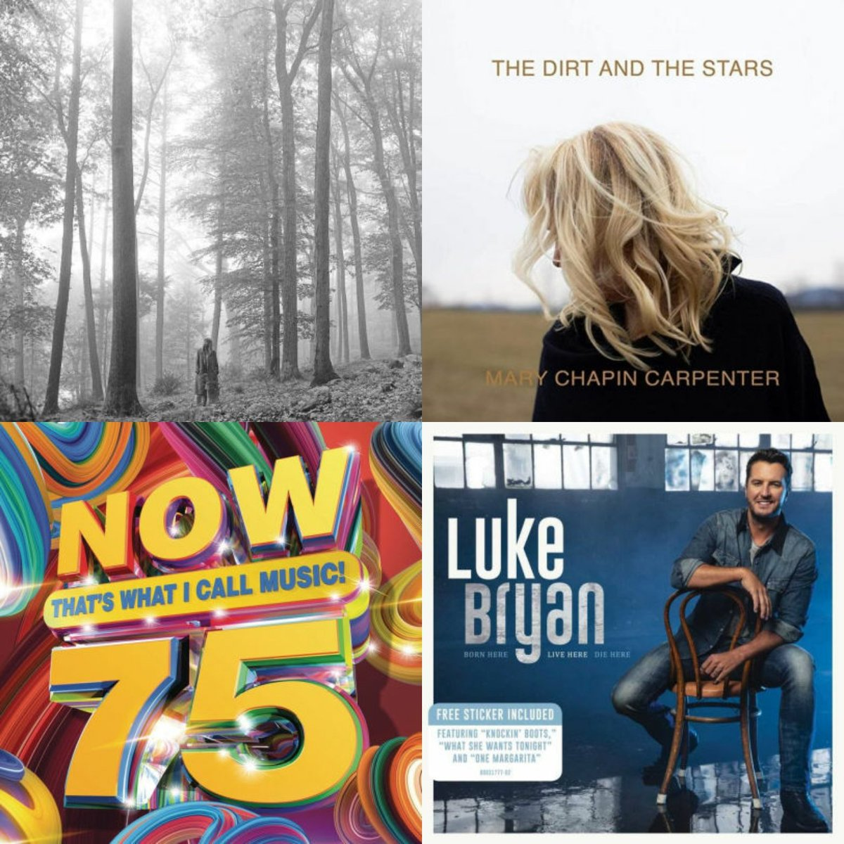 Here's what's new this #MusicFriday!   Featuring: Folklore (Taylor Swift) Now 75: That's What I Call Music Dirt and the Stars (Mary-Chapin Carpenter)  Born Here Live Here Die Here (Luke Bryan) #bnmidwest #NewRelease ##music #taylorswift #country #marychapincarpenter #lukebryan https://t.co/Z7GU3l6kkV