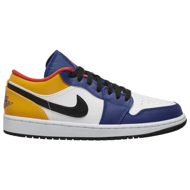 "Jordan 1 Low ""White/Track Red/Deep Royal Blue"" sizes 10.5-13 remaining on Champs Link -> go.j23app.com/ir3"