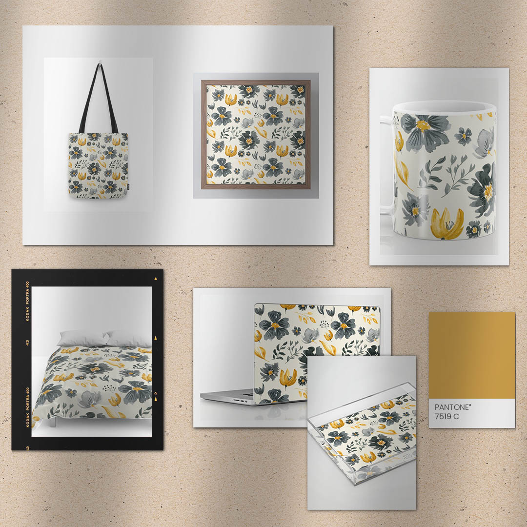 Just listed this beautiful new handprinted watercolor botanical pattern in the Jennadesigns Society6 Shop (link in profile)! Absolutely love the mustard yellow color and darker grays and blacks in this modern and chic print that looks great on everything from wall art to tabletop pic.twitter.com/ATdv20s1pL