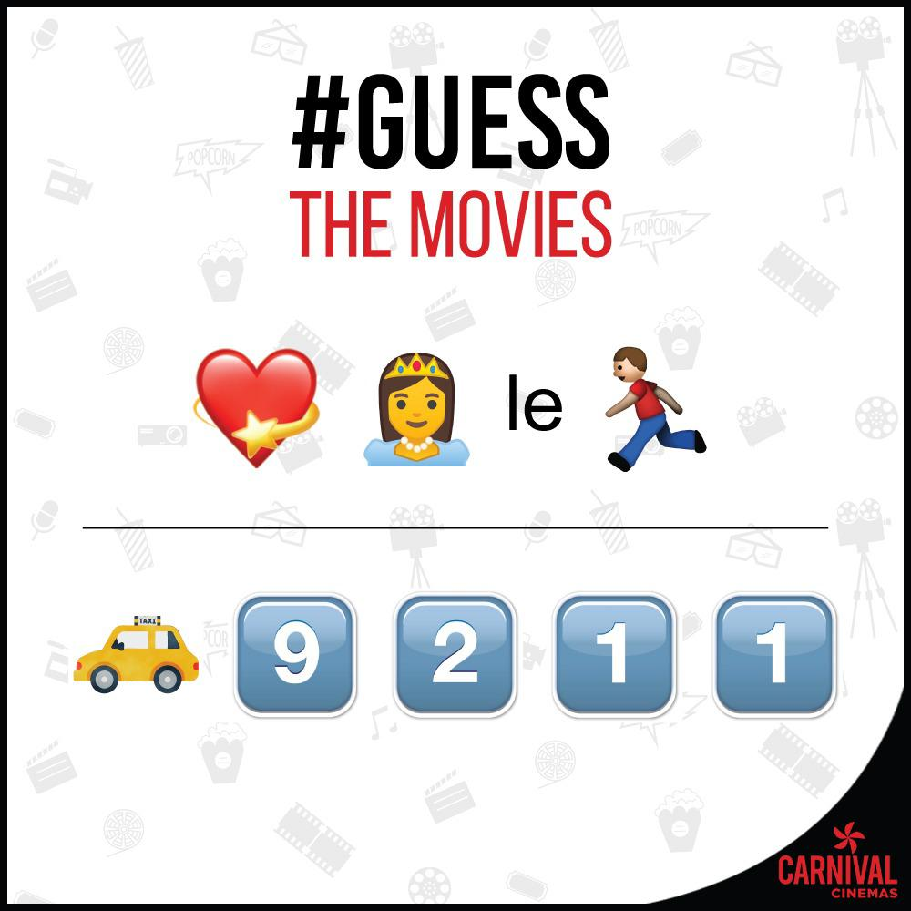 #GuessTheMovie While some will be a doddle to solve others will leave you scratching your head, with only true film buffs coming out on top.  Comment down the answers and don't forget to tag your friends.  #CarnivalCinemas #Movies #BollywoodMovies #HollywoodMovies #ApnaCarnivalpic.twitter.com/C9bnhVOPdA