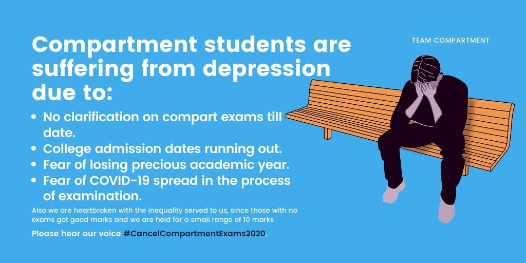 @SonuSood   Sir pls say something on   #cancelcompartment   Many students have DIED since the cbse results came out, but still our voices are faint, if they can't hear the voice of the future then maybe they can hear your voice!!  Please, voice our concerns as well!! pic.twitter.com/SpyMrNlHg6