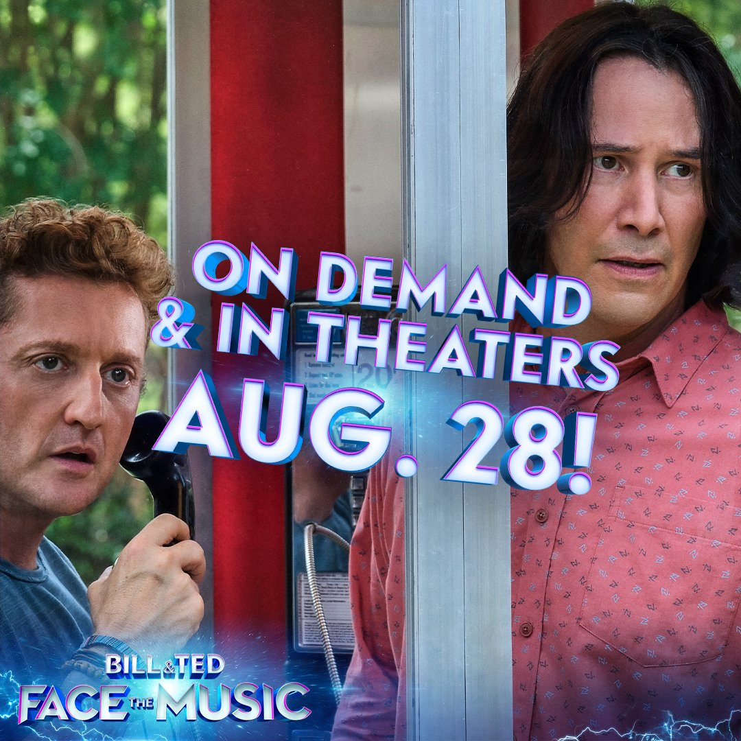 The wait for Bill & Ted Face the Music just got shorter, dudes! Watch it On Demand and in theaters August 28! And remember to be excellent to each other.  #BillAndTed3 #FaceTheMusicpic.twitter.com/JWdqNxvbG6