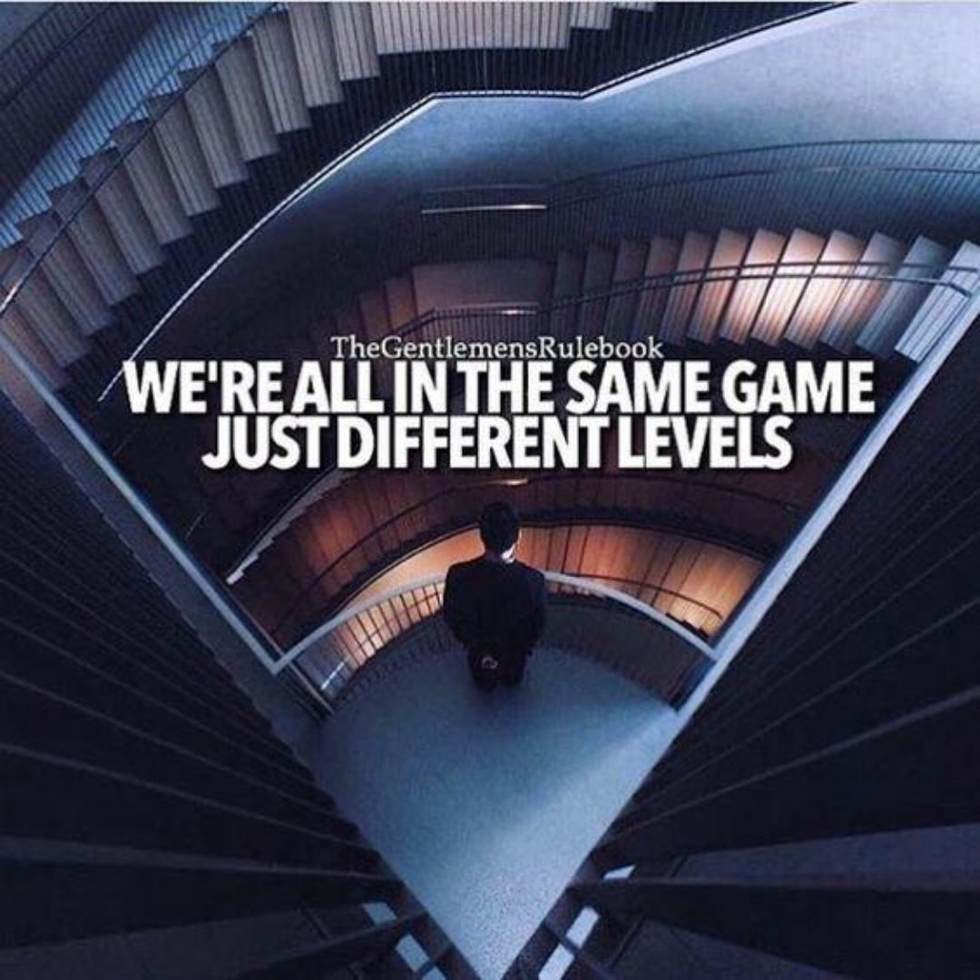 """""""WE'RE ALL IN THE SAME GAME JUST DIFFERENT LEVELS""""  Follow us for more inspirational content @GoalMogul  #lifetime #living #aliveness #lifespan #biography #sprightliness #spirit #liveliness #animation #lifestory #lifehistory #lifestyle #society #family #lifestyles #career #lifelopic.twitter.com/QQPMSOdqjk"""