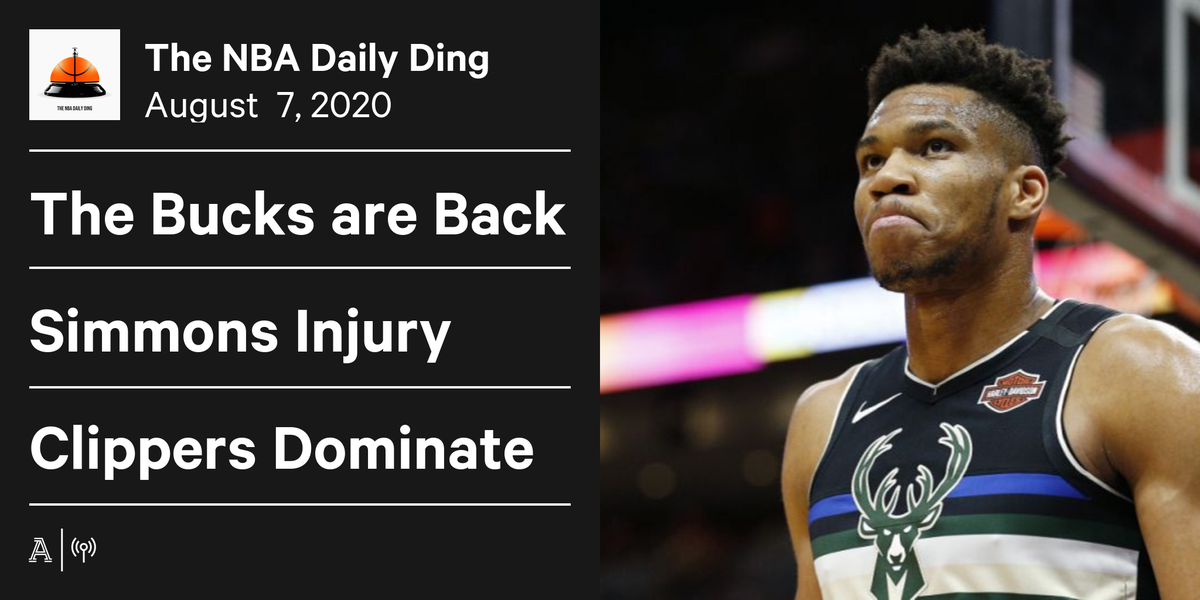 🛎️ The Daily Ding with @talkhoops and @DaveDuFourNBA   🛎️ Bucks back to full strength 🛎️ Simmons injury 🛎️ Clippers handle Mavs 🛎️ Blazers continue to roll  And more…  Apple: https://t.co/zcOMq3NAGc  Spotify: https://t.co/3LNtlOi30Q https://t.co/9dpVuOar0V