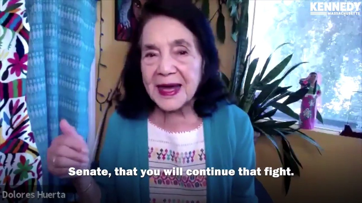 Dolores Huerta has dedicated her life to fighting for those who have been forced to the margins. Grateful for her mentorship, and support in this race. https://t.co/ttDIrQCYbp