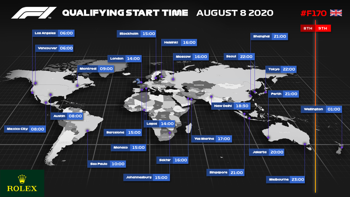 Where will you be watching qualifying from? 🌍  #F170 🇬🇧 #F1 https://t.co/B3YJZTrnFb
