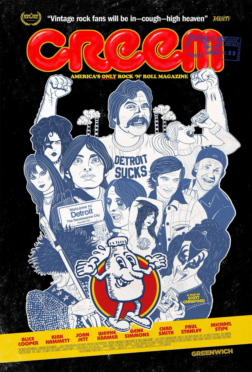 Boy howdy! The new documentary CREEM: America's Only Rock 'n' Roll Magazine is available for online rental NOW via WFMU! 50% of your rental fee benefits the Freeform Station of the Nation! Use this link to order and read more about the doc: https://t.co/4JZ8jD6XM3 https://t.co/QBG0jUCYJk