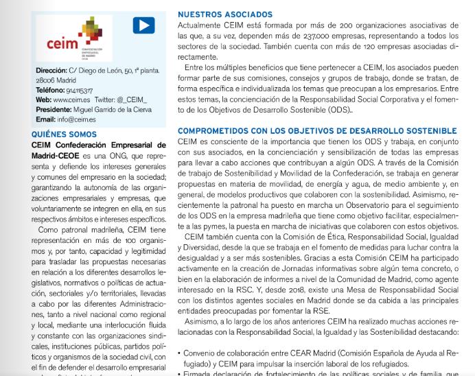 .@_CEIM_ ha participado en el desarrollo de Jornnadas Informativas sobre algunos aspectos de la #sostenibilidad para demostrar su compromiso con la #RSC. Más información en el #AnuarioCorresponsables2020👉https://t.co/n9LN0FaeTM https://t.co/eLlNNeDnQA