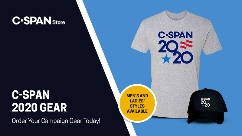 Are you an informed voter? Show it with C-SPAN's Campaign 2020 gear — available now in the C-SPAN Store. Order yours here: bit.ly/33zOrI8