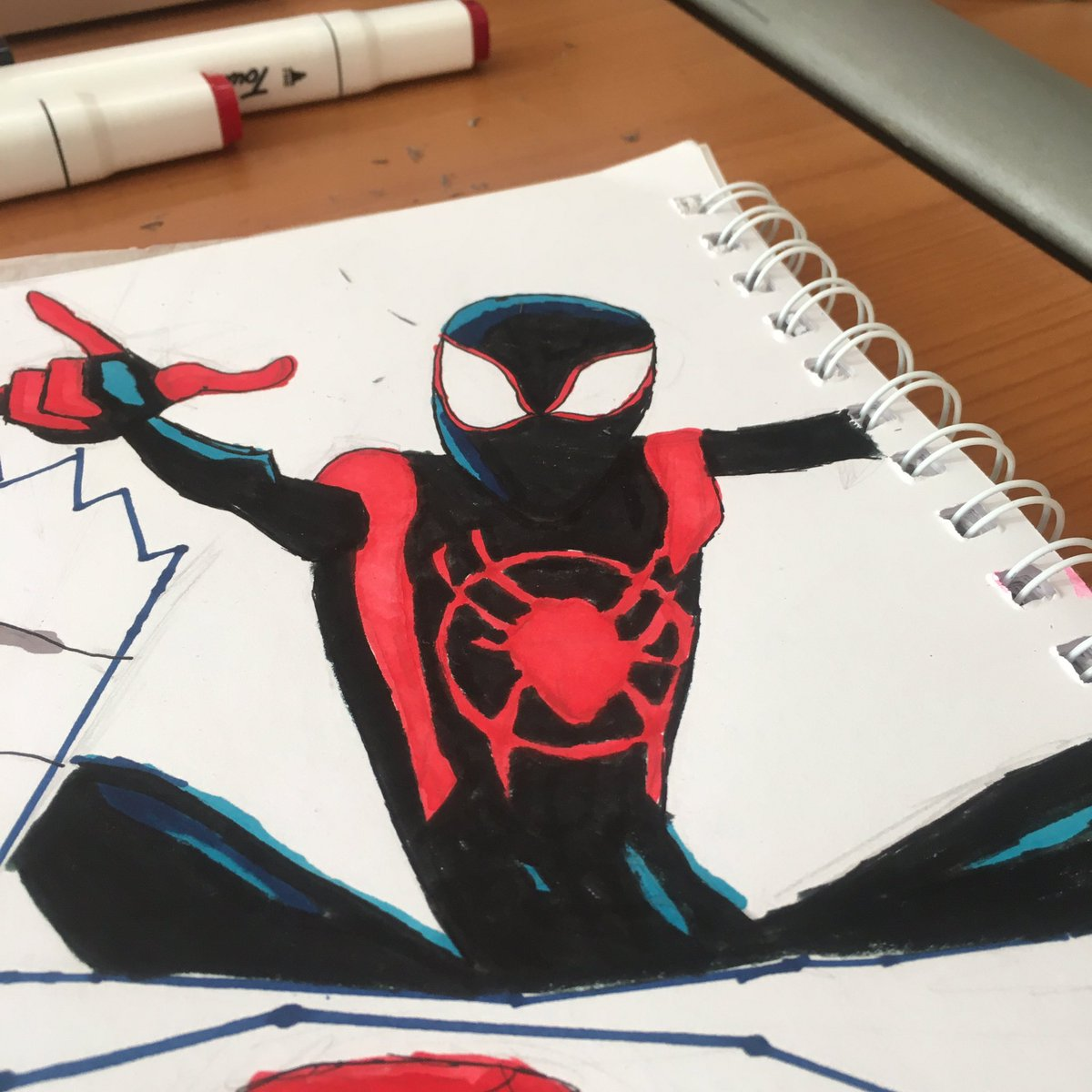 Subí un dibujo de #SpiderManDay al insta jaja por si lo quieren ver https://t.co/ehuX6omrcf