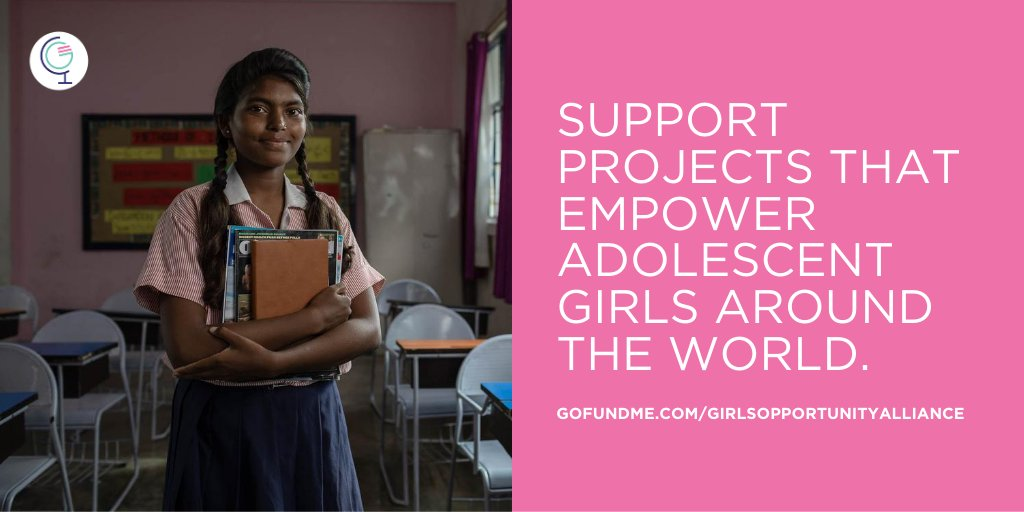Join me and take action today to support adolescent girls' education and empowerment with the @girlsalliance—because the future of our world is only as bright as our girls: gofundme.com/girlsopportuni…. @MichelleObama @melindagates