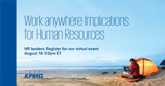 Hear from our leaders across KPMG as they address the unique HR implications to supporting a thriving virtual workforce and unveil findings from our latest American Worker pulse survey. Register for the 8/19 webcast. https://bit.ly/2ESrkOLpic.twitter.com/LOvbMfjR6K