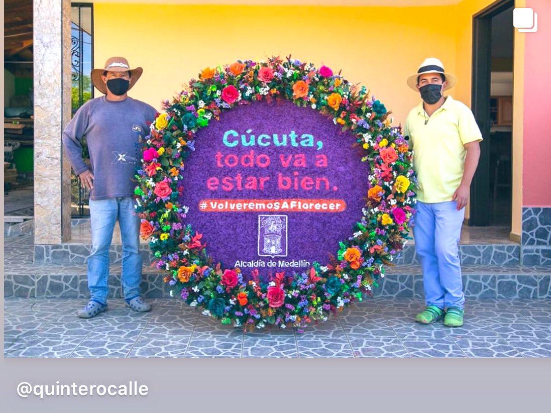 En medio de una feria de la flores muy particular, Medellín expresa su solidaridad a varias ciudades hermanas. Qué buen gesto @QuinteroCalle #VolveremosAFlorecer #FeriadeLasFlores #Medellinpic.twitter.com/MGpgyxgrBk