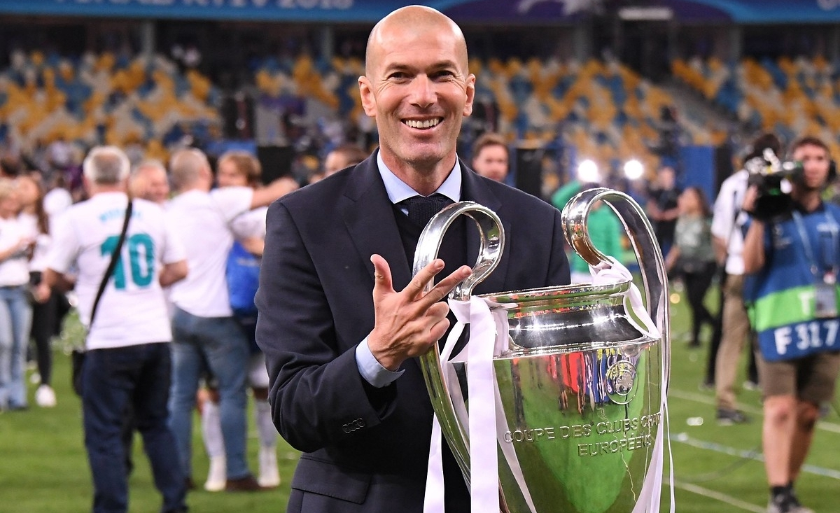 Zinedine Zidane has never been eliminated from the Champions League in his managerial career.  Never. https://t.co/ZbNoOlQwXb