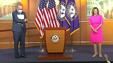 At joint news conference, @SpeakerPelosi and @SenSchumer said they were willing to reduce the Democratic relief bill by a trillion dollars if WH/GOP increased their plan by a trillion. They rejected it totally, said Schumer. Says WH/GOP wants to spend as little as possible.