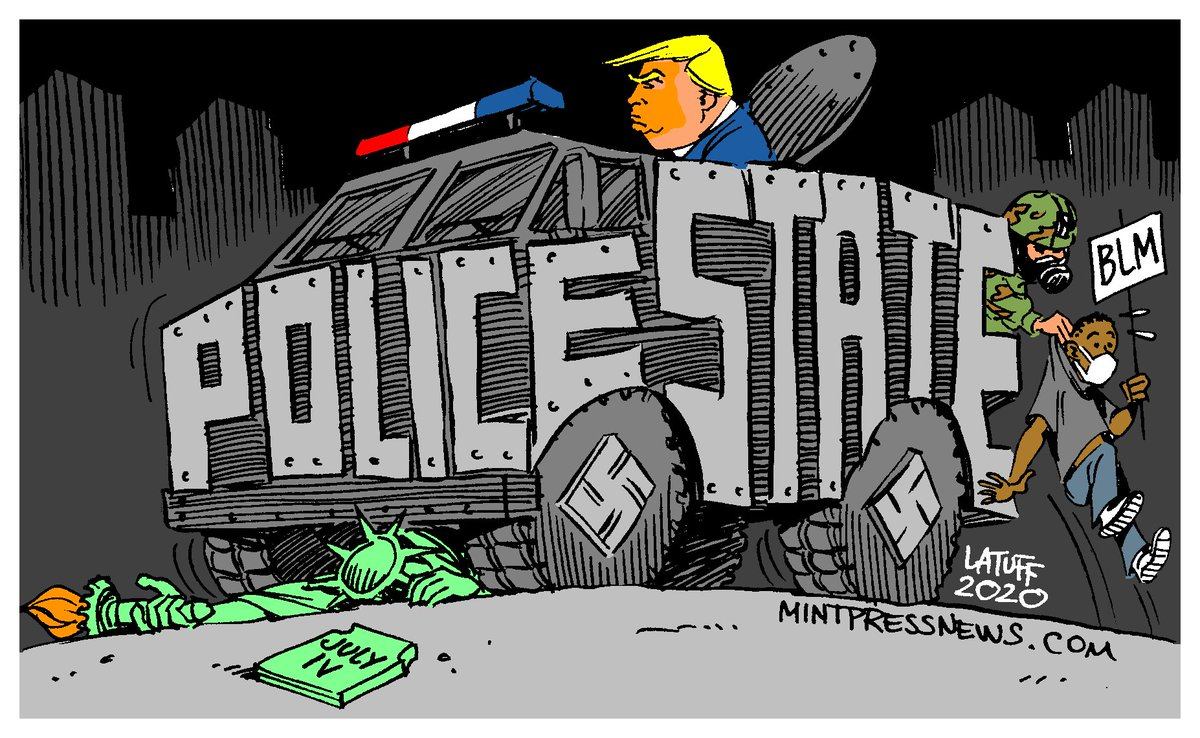 Trump and US under his administration  CartoonCredit: @LatuffCartoons https://t.co/tJTcLqHoES