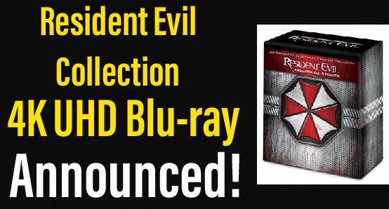 Resident Evil Collection 4K Blu-ray Announced! https://youtu.be/tUOueF1kK0c #residentevil #sony #movieguy365 #bluray #4K #shopping #youtube #film #youtuber  #bluraycollection #4kbluraycollection #moviepic.twitter.com/kll1kD7AdD