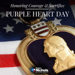 Image for the Tweet beginning: Today, on National Purple Heart