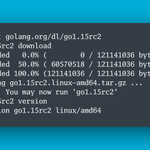 Image for the Tweet beginning: 🎊 Go 1.15 Release Candidate