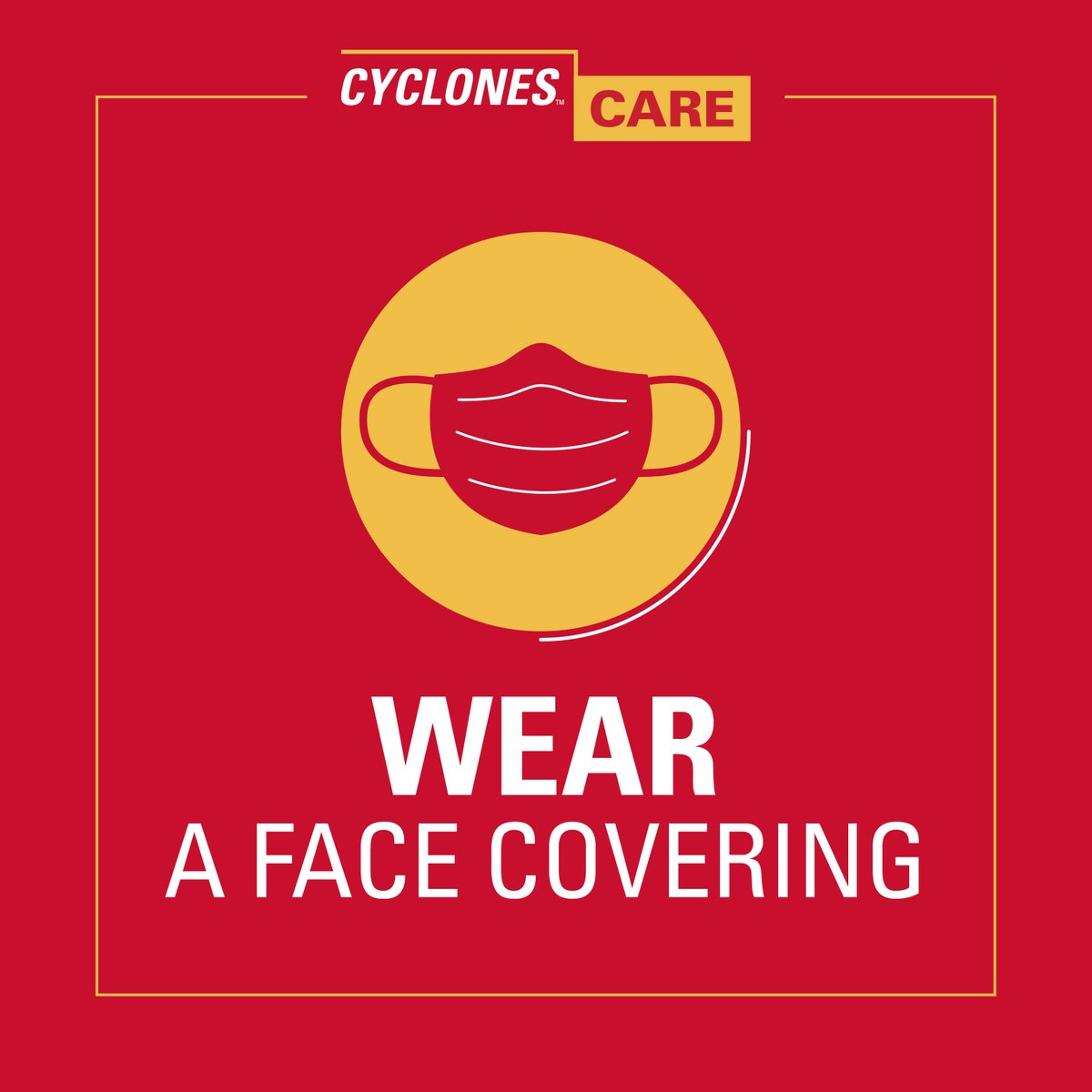 Four simple, healthy behaviors to bring with you to campus.  #FaceCovering #Distance #WashHands #StayHome  Face Covering Policy:  https://bit.ly/3ihWtKa pic.twitter.com/xDHFRTE1SJ
