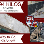 Image for the Tweet beginning: K9 Asha just BUSTED the