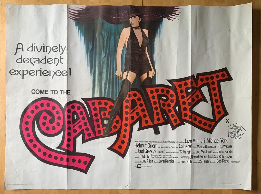 Have a number of film posters that I need to list on my @Etsy page. This is such a great one. #inbizhour #cabaret #filmposter #homedecor #interiorstylingpic.twitter.com/CXIz0OTH84