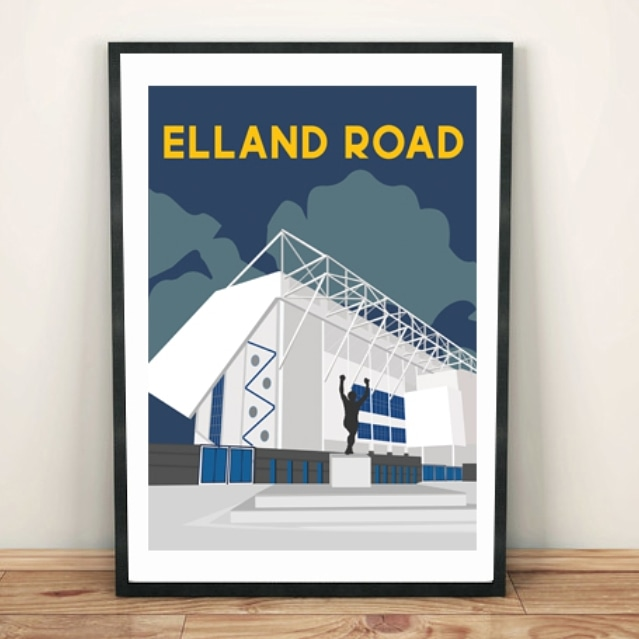 Elland Road, Leeds, Yorkshire.  Our 2nd new football ground design. Available in the shop now. Link in bio #leedsunited #leeds #lufc #ellandroad #ellandroadstadium #yorkshire #footballfans #footballfans #premierleague #footballislife #bielsa #footballfamily #footballstadiumpic.twitter.com/aCVg0ynGxT