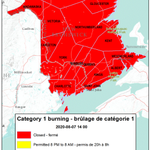 Image for the Tweet beginning: Burning conditions are valid from